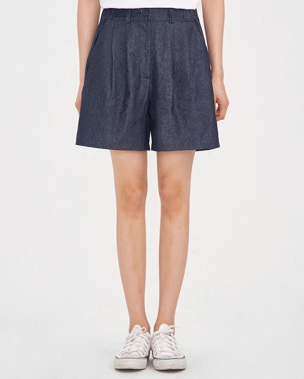 cape denim short pants