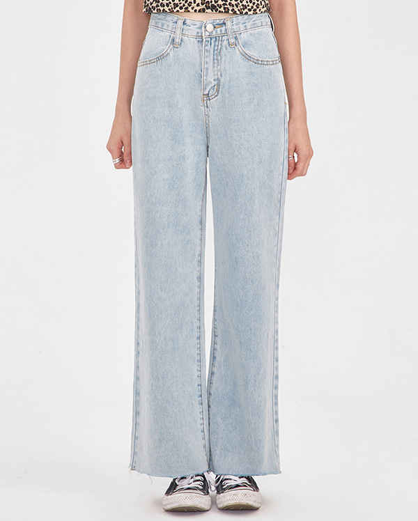 wing straight denim pants (s, m, l)