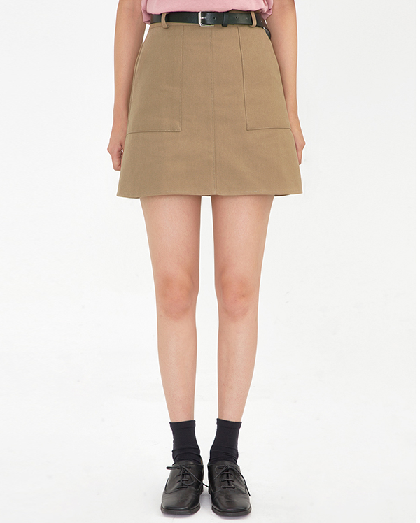 out pocket half-banding skirt (2 colors)