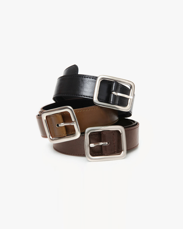 wide square point belt (3 colors)