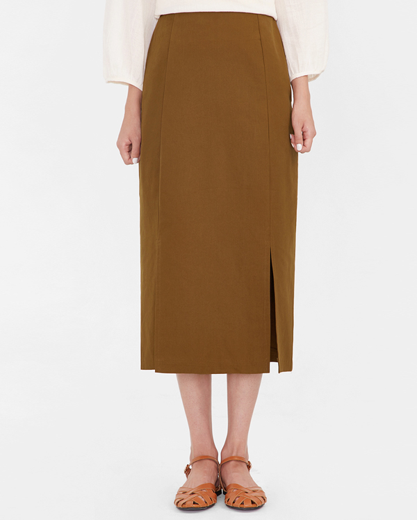 basil side slit skirt (s, m)