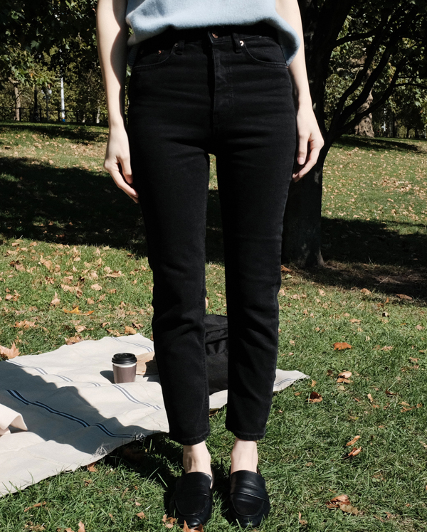 bike slim denim pants (s, m, l)
