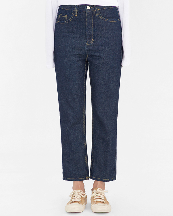 over deepblue denim pants (s, m, l)