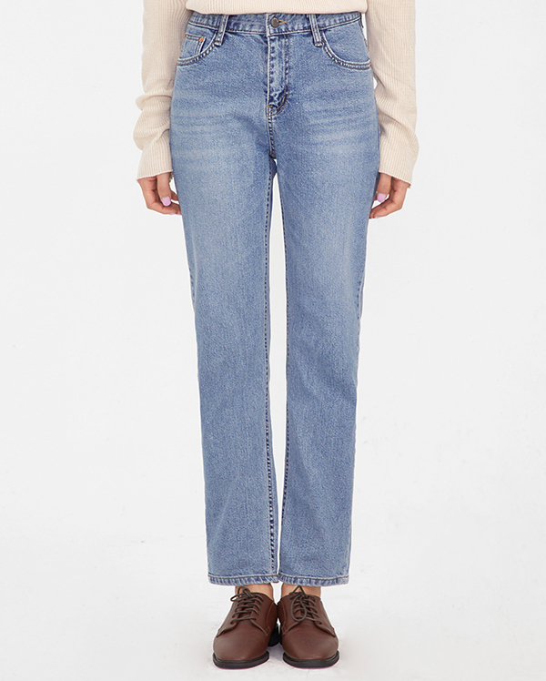 young straight denim pants (s, m, l)