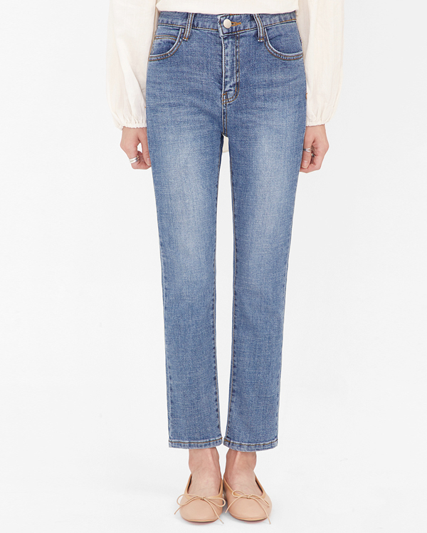 okay straight denim pants (s, m, l)