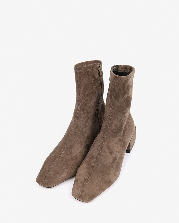 square heel suede boots (225-250)
