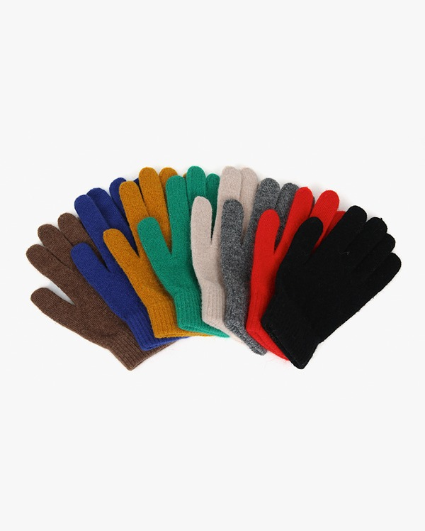 colorful wool gloves