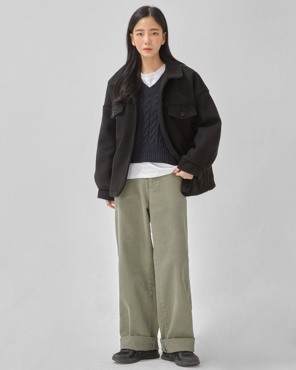 wants boxy pocket jacket