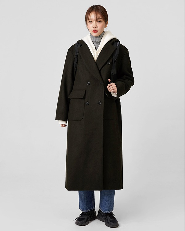 store wool double coat