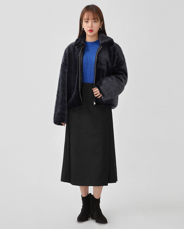live collar fur jacket