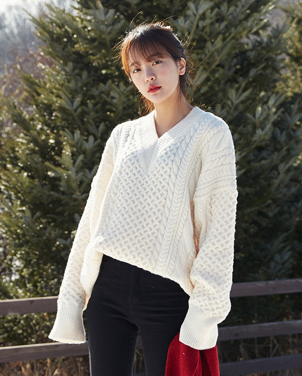 clever boxy wool knit