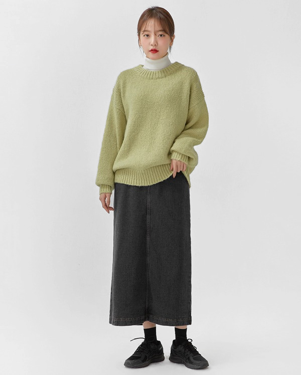 pig wool boxy knit
