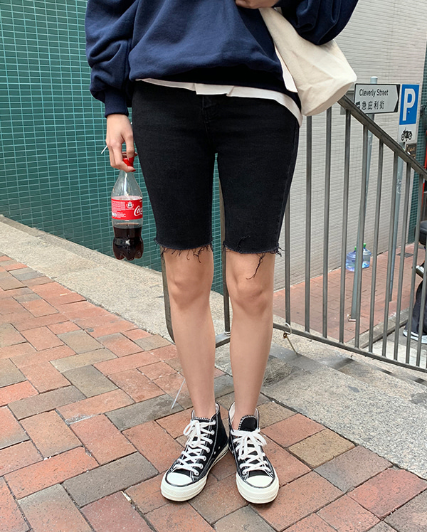 trendy cutting half pants (s, m)
