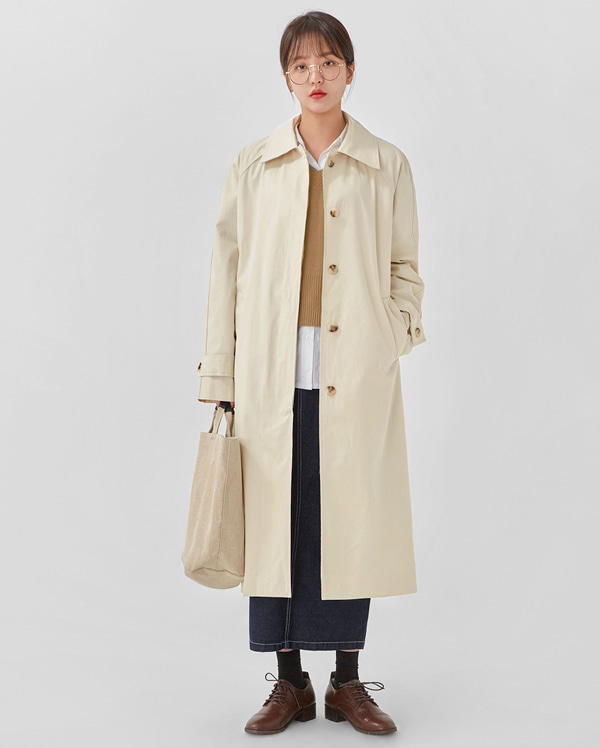 creamy trench coat