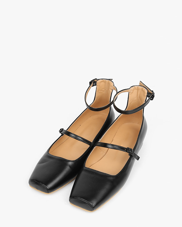 lobe 2-strap flat shoes (230-250)