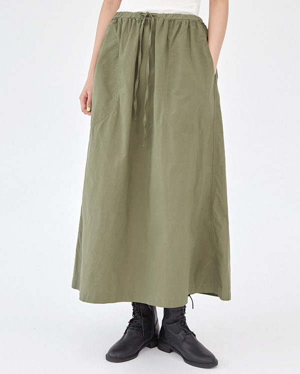 under dry cotton long skirt