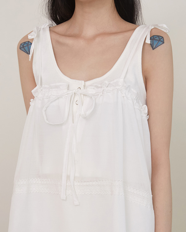 reve button sleeveless