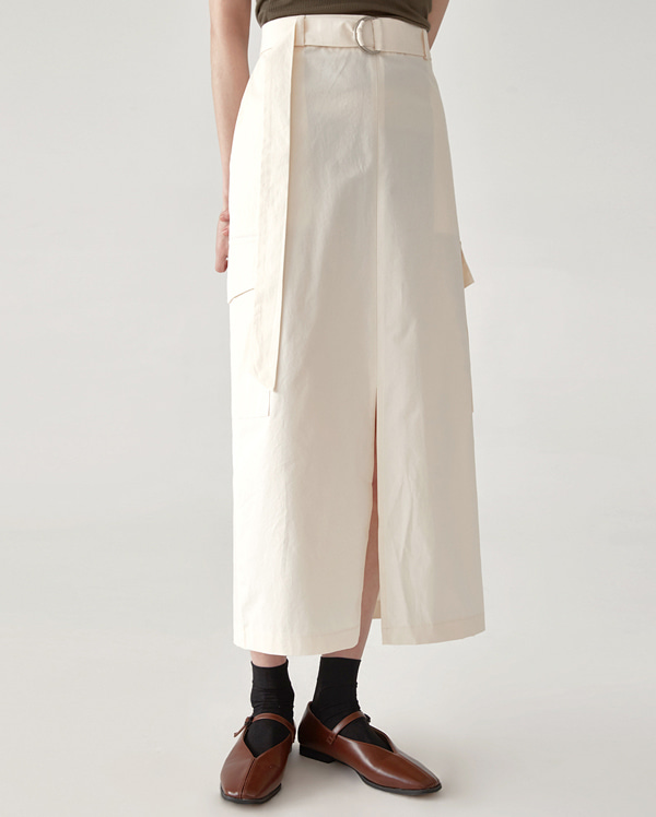 cargo D-ring long skirt