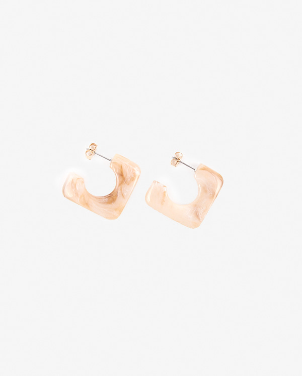 sunset square earring