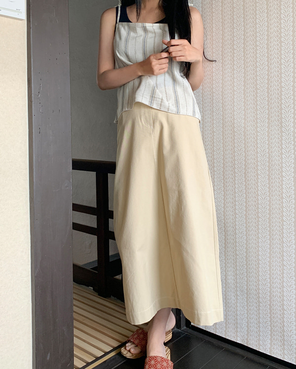 bread basic long skirt (s, m)