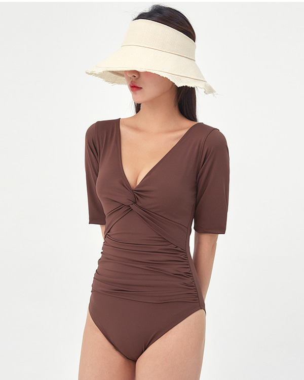 deep v-neck twist monokini (l, xl)