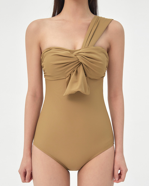 twist one shoulder monokini