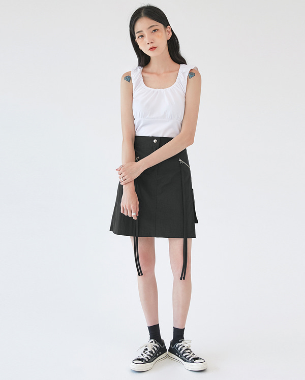 chacha banding shoulder sleeveless