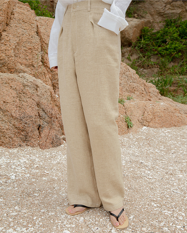 linen stitch ade pants (s, m)