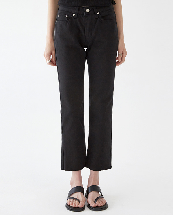 simple semi boots pants (s, m)