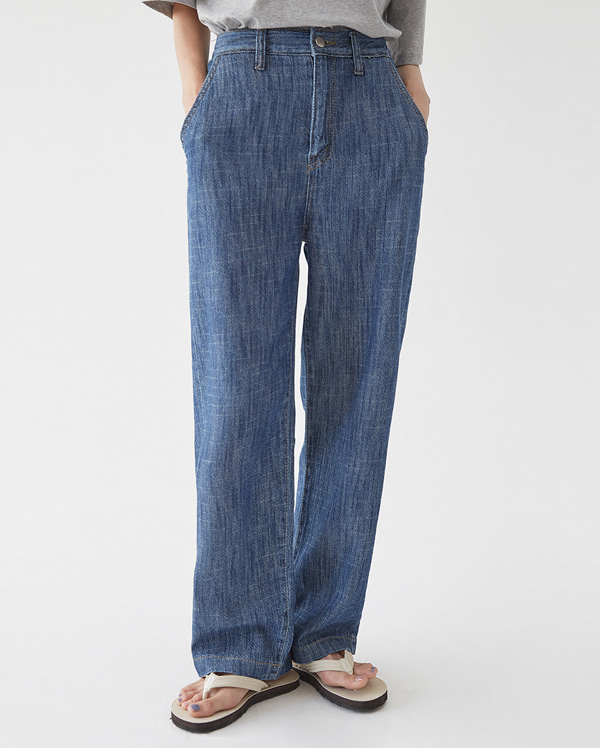 three denim wide pants (xs, s, m, l, xl)