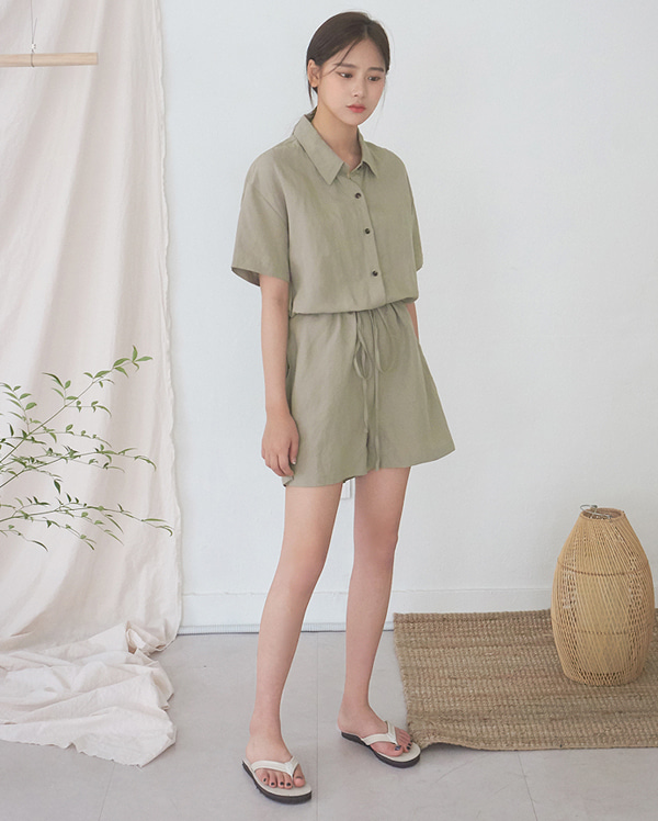 cargo botton jumpsuit