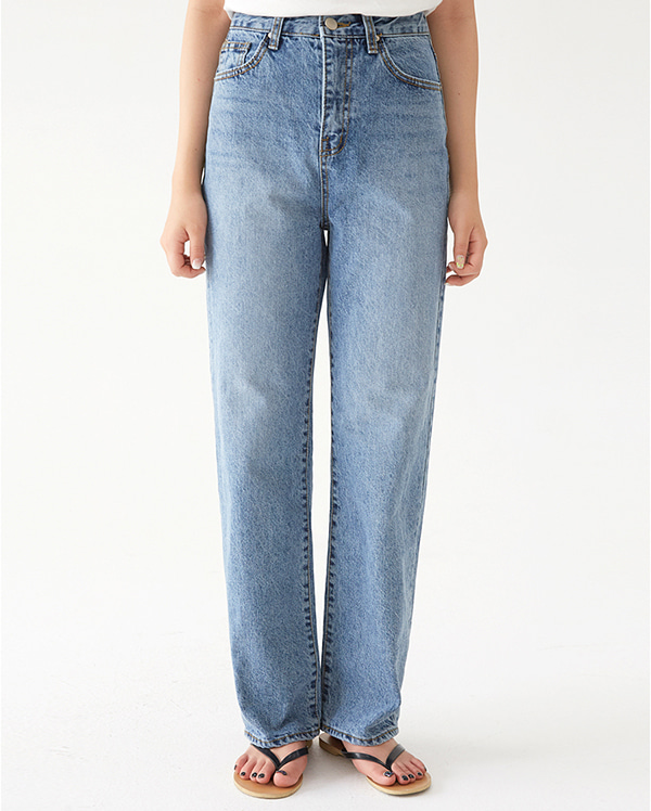 fleta straight denim pants (s, m, l)