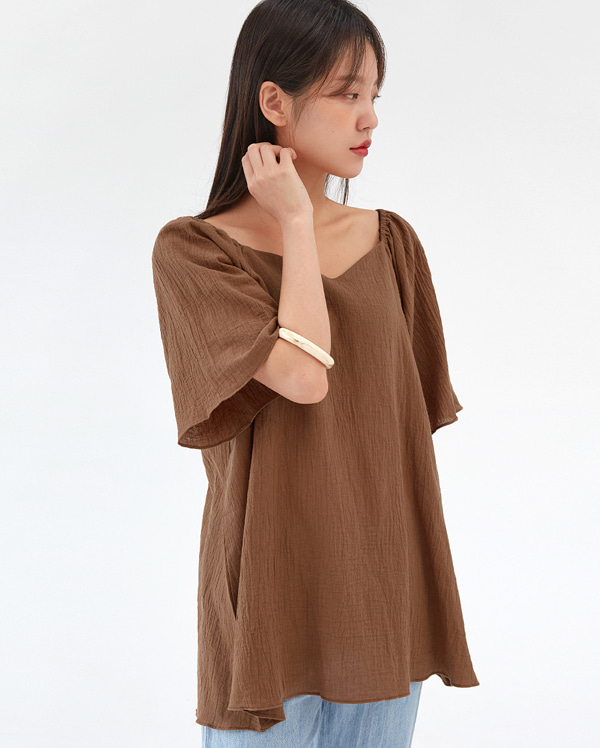 off wing long blouse