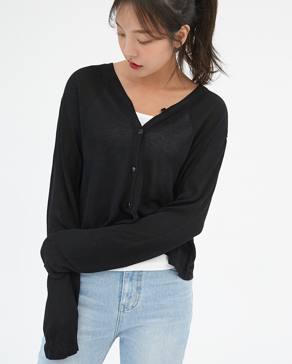 air cool crop cardigan