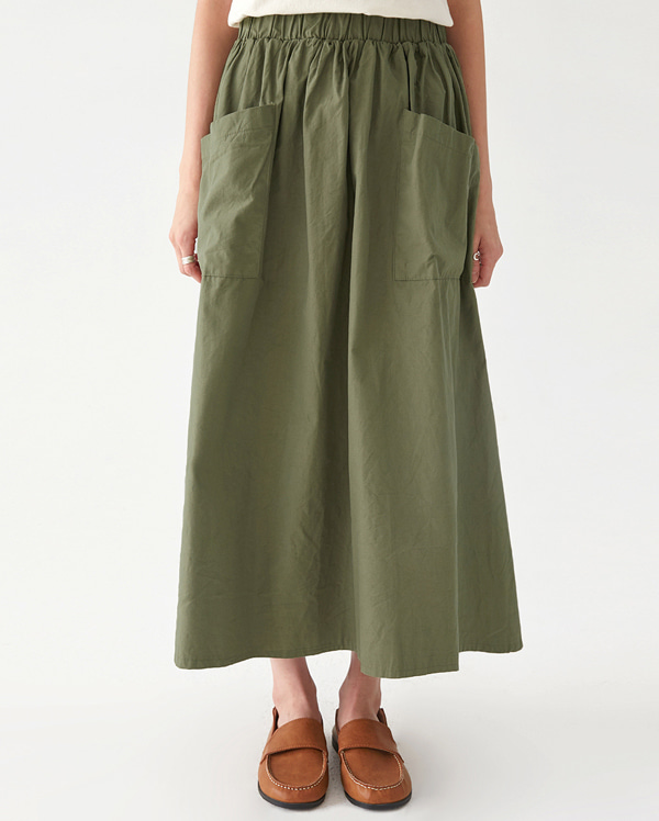 live pocket long skirt
