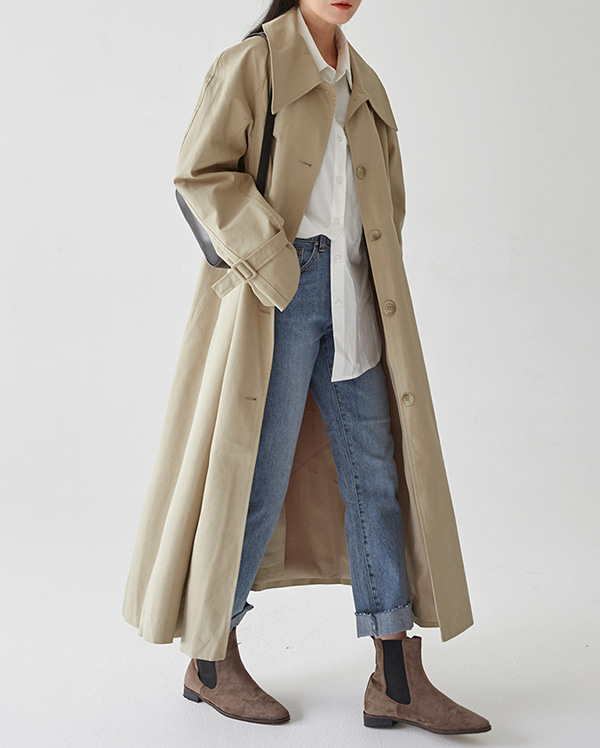 dali collar trench coat