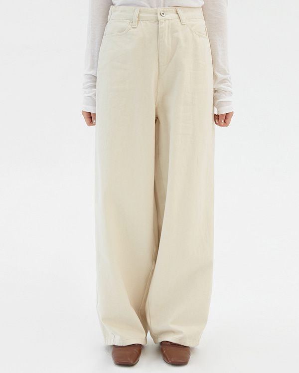 ebony button wide pants