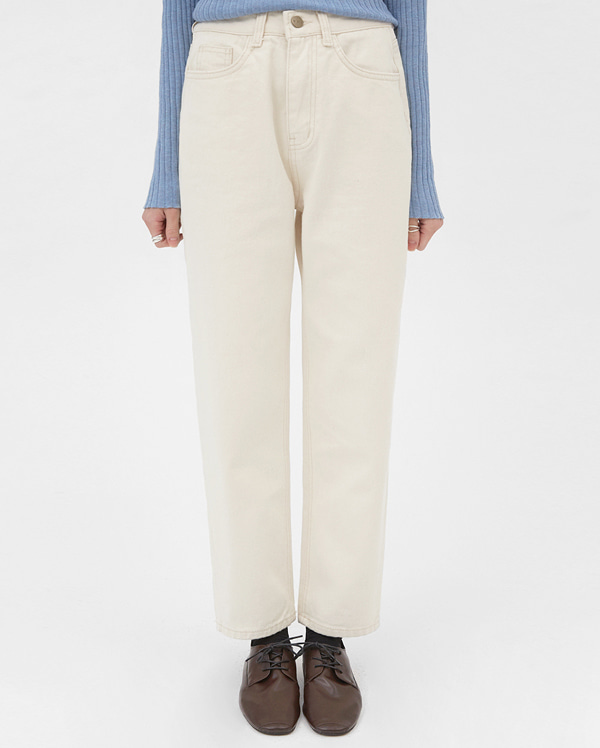 note cotton straight pants (s, m)