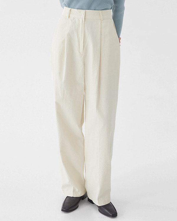 young pintuck line pants (s, m)