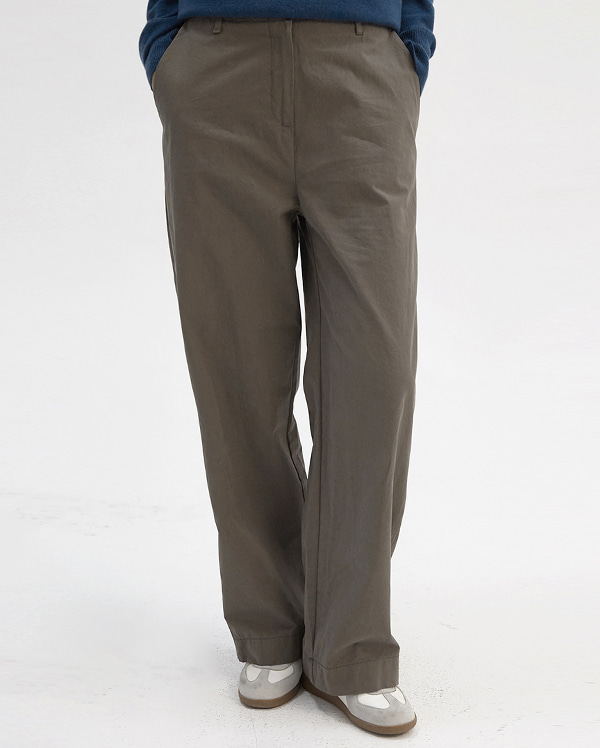 derry wide cotton pants (s, m)