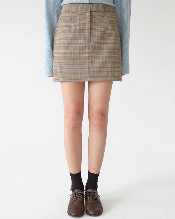 nomal check mini skirts (s, m)