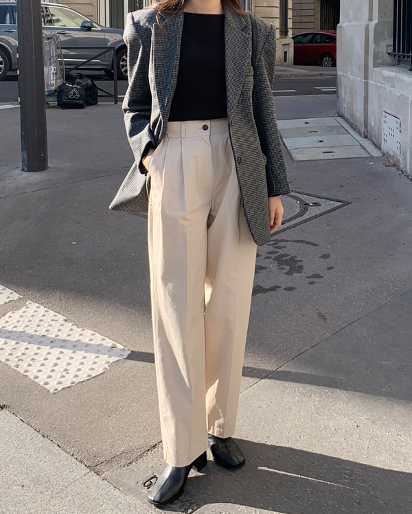 save buckle wide pants