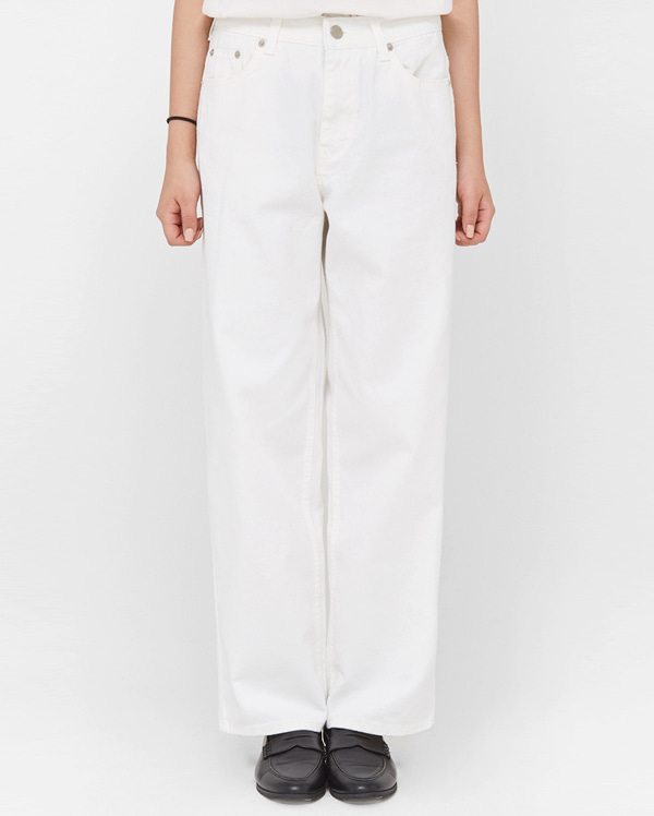 manner wide cotton pants (s, m)