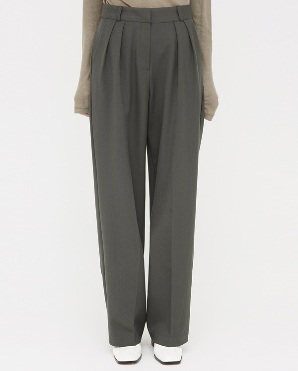 real pintuck line slacks (s, m, l)
