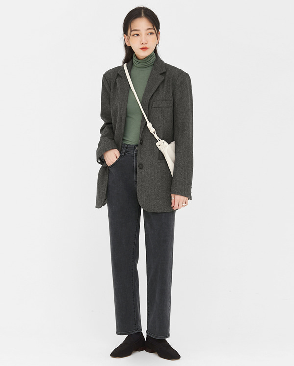dorothy herringbone wool jacket