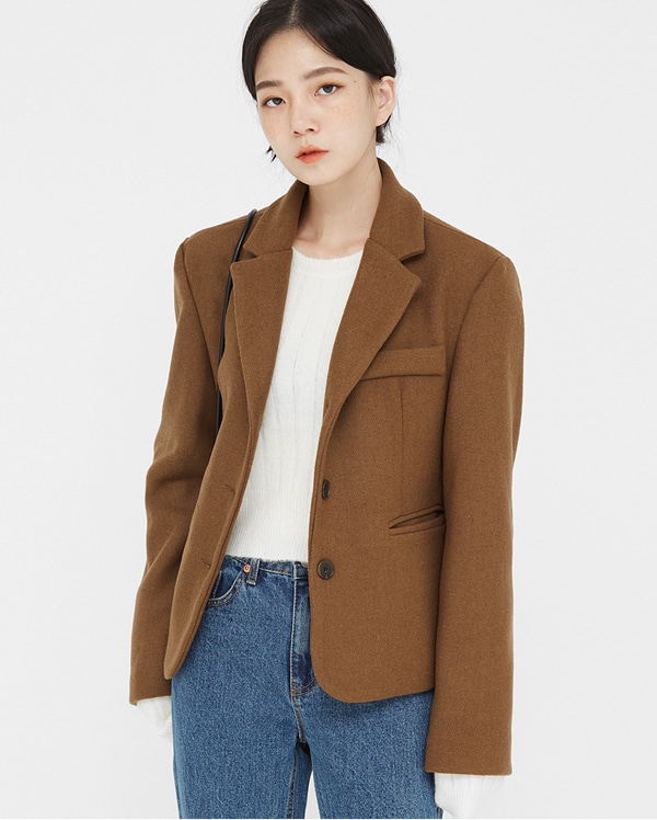 bobbi fit single wool jacket