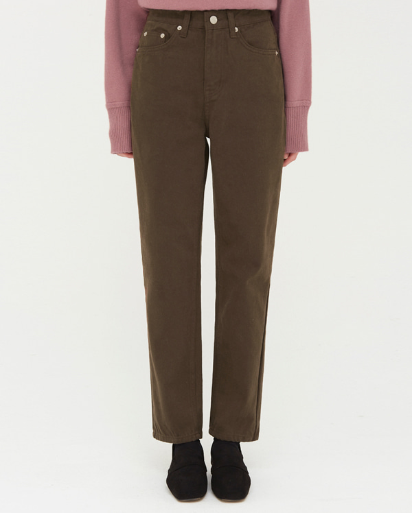 brownie straight cotton pants (s, m, l)