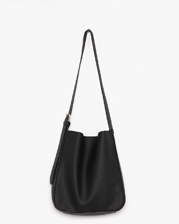 one buckle soft shoulder bag