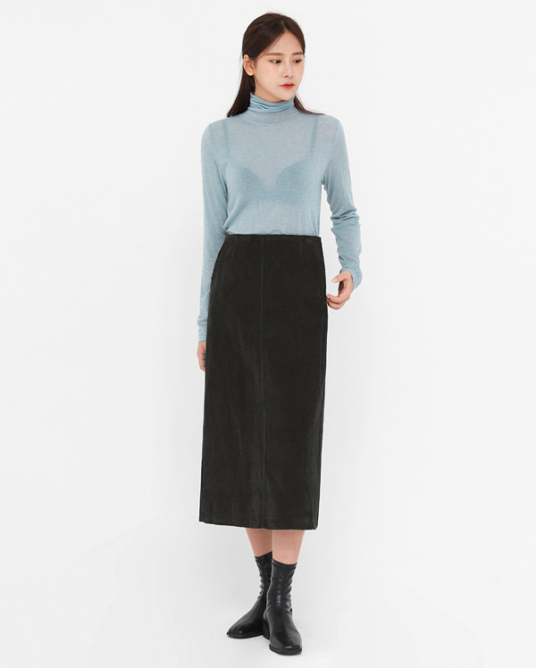 ondo tencel wool high neck T