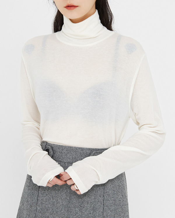 loosen up wool turtleneck T